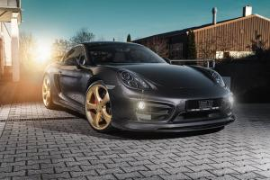 Porsche Cayman S with Gold Details by TechArt 2016 года