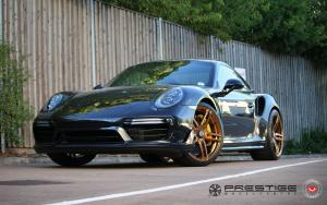 Porsche 911 Turbo S on Vossen Wheels (HC-1) 2017 года
