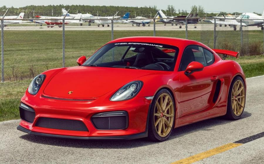 2019 Porsche 718 Cayman GT4 on Vossen Wheels (HF-3)
