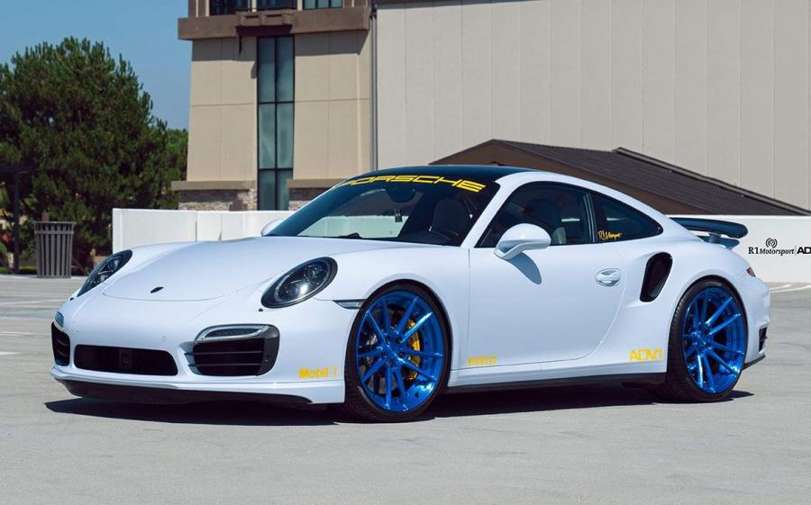2019 Porsche 911 Turbo S Carrara White Metallic by R1 Motorsport on ADV.1 Wheels (ADV5.2 M.V2 SL)
