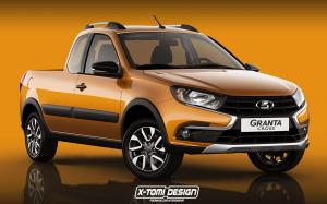 2019 Lada Granta Cross Pickup by X-Tomi Design