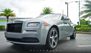 Rolls-Royce Wraith Chrome Deletion by MetroWrapz 2016 года