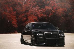Rolls-Royce Ghost Matte Black by Heat Auto Motoring on ADV.1 Wheels (ADV5.2 TRACK SPEC CS)