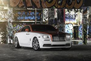 2017 Rolls-Royce Wraith Candy Apple Red by MC Customs on Forgiato Wheels (Undice-ECL)
