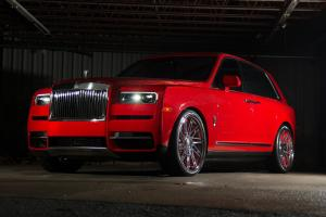 Rolls-Royce Cullinan Magma Red on Forgiato Wheels (TEC 3.6) 2018 года