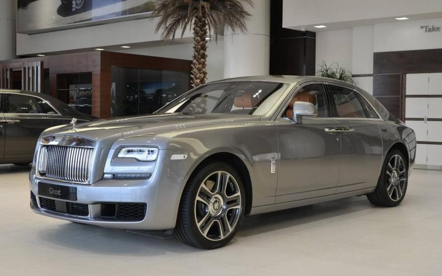 Rolls-Royce Ghost in Jubilee Silver by Abu Dhabi Motors
