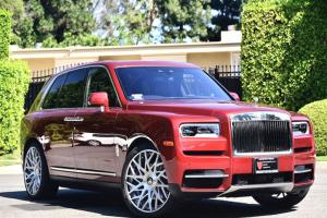2019 Rolls-Royce Cullinan Magma Red on Forgiato Wheels (Blocco-ECL)