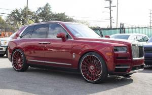 Rolls-Royce Cullinan Magma Red on Forgiato Wheels (RDB-ECL) 2019 года