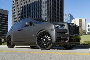 2019 Rolls-Royce Cullinan Matte Black on Forgiato Wheels (RDB-ECL)