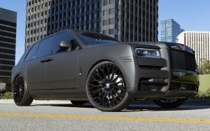 Rolls-Royce Cullinan Matte Black on Forgiato Wheels (RDB-ECL) 2019 года
