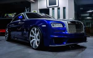Rolls-Royce Wraith Blue & Silver on Forgiato Wheels (Fondare-ECL) 2019 года