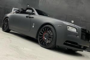 2019 Rolls-Royce Wraith Matte Black on Forgiato Wheels (RDB-ECL)