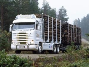 Scania R143H 6x4 Timber Truck 1988 года