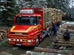 Scania T144G 530 6x4 Timber Truck 1995 года