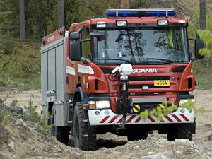 Scania P380 4x4 Crew Cab Fire Engine 2005 года