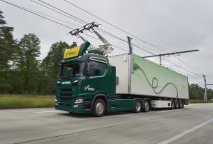 2016 Scania G360 4x2 Hybrid Truck with Siemens Pantograph