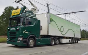 Scania G360 4x2 Hybrid Truck with Siemens Pantograph