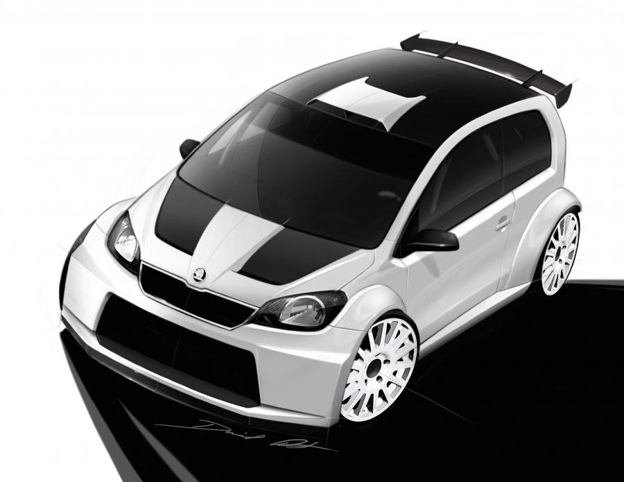 Skoda Citigo Rally Sketches