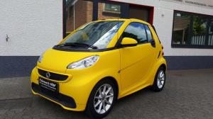 2016 Smart ForTwo Cabrio in Matte Bright Yellow by Folienwerk-NRW