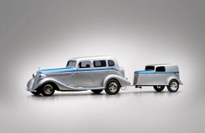 1935 Studebaker Commander Custom Sedan and Trailer