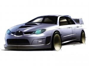 Subaru Impreza WR-Car Sketch 2006 года