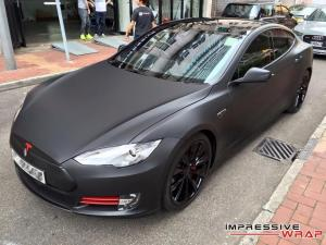 2016 Tesla Model S P90D by Impressive Wrap
