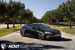 Tesla Model S by EVS Motors on ADV.1 Wheels (ADV10 M.V2) 2016 года