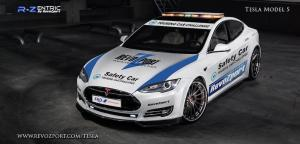 Tesla Model S Formula E Safety Car R-Zentric by RevoZport 2017 года