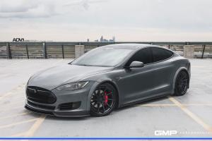 Tesla Model S Nardo Gray by GMP Performance on ADV.1 Wheels (ADV10R TRACK SPEC CS) 2017 года