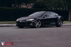 Tesla Model S by EVS Motors on Vossen Wheels 2017 года