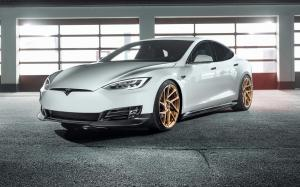 Tesla Model S by Novitec Rosso on Vossen Wheels (NV2) 2017 года