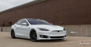 Tesla Model S by The Auto Art on ADV.1 Wheels (ADV10R M.V2 CS) 2017 года