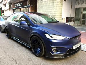 Tesla Model X P100D on Salvani Wheels 2017 года