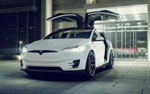 Tesla Model X by Novitec Rosso on Vossen Wheels (NV2) 2017 года