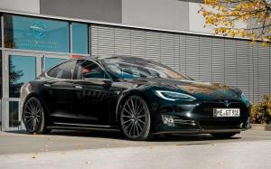 Tesla Model S on Vossen Wheels (VFS-2) 2018 года