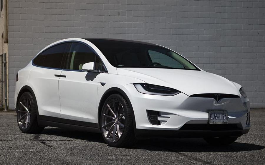 2018 Tesla Model X P100D by SR Auto Group on PUR Wheels (PUR RS08)