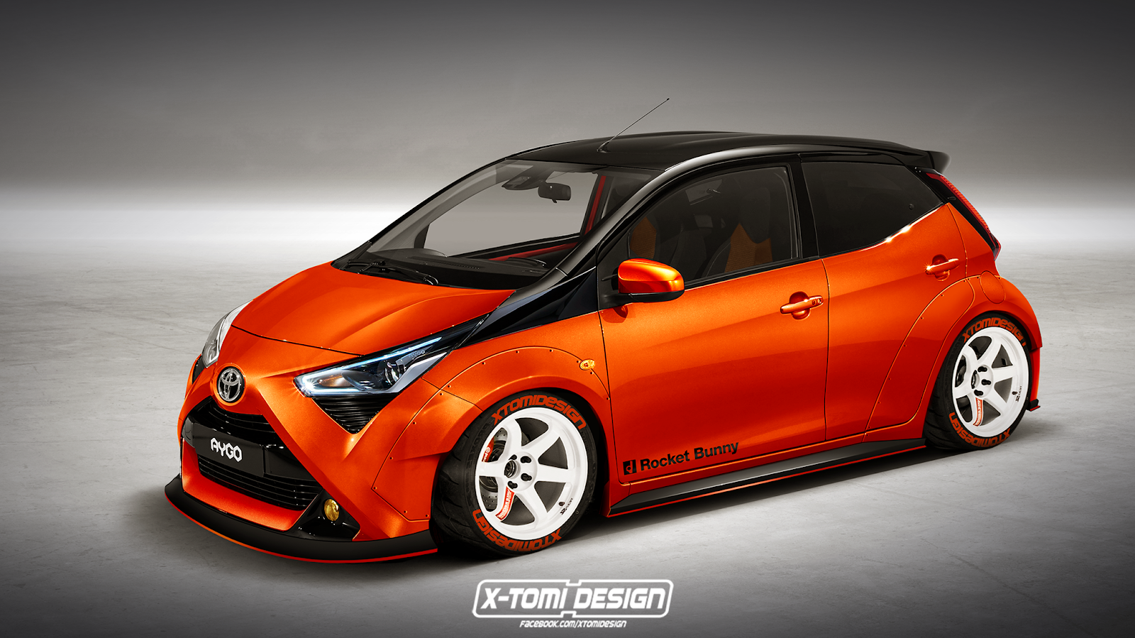 Toyota Aygo Rocket Bunny by X-Tomi Design 2018 года