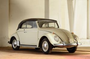 Volkswagen Beetle Cabriolet White Type I 1961 года