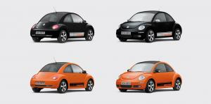 Volkswagen Beetle Black & Orange 2009 года