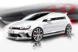 Volkswagen Golf GTi Clubsport Sketches 2015 года