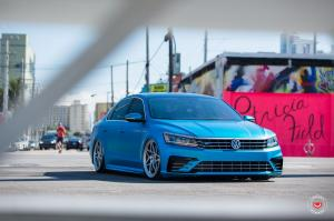 Volkswagen Passat in Blue on Vossen Wheels (LC-109T)