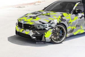 2018 BMW M4 Coupe on Strasse Wheels (SV1 Deep Concave FS)