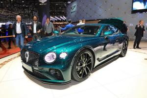 Новый Bentley Continental GT, украшенный золотом