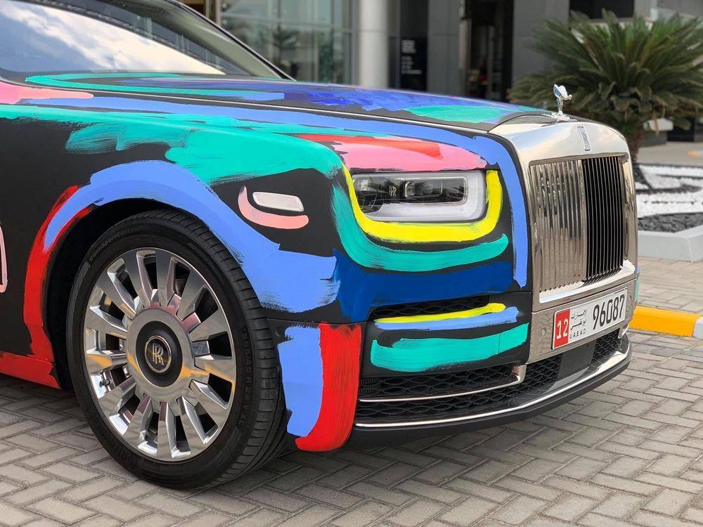 Rolls-Royce Phantom Art Cat by Bradley Theodore by Abu Dhabi Motors 2019 года