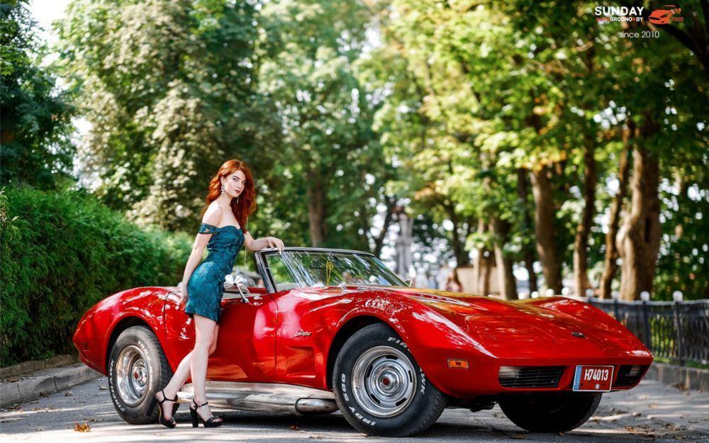 Анжелика Теребей из Гродно и Chevrolet Corvette Stingray
