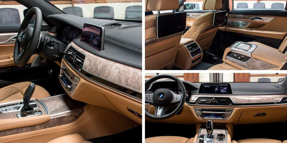 BMW 750Li xDrive в цвете Royal Burgundy Red, Abu Dhabi Motors