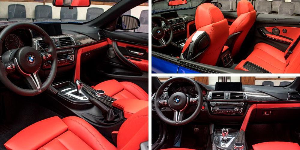 BMW M4 Convertible Competition Package 2020 года, в цвете San Marino Blue, Abu Dhabi Motors