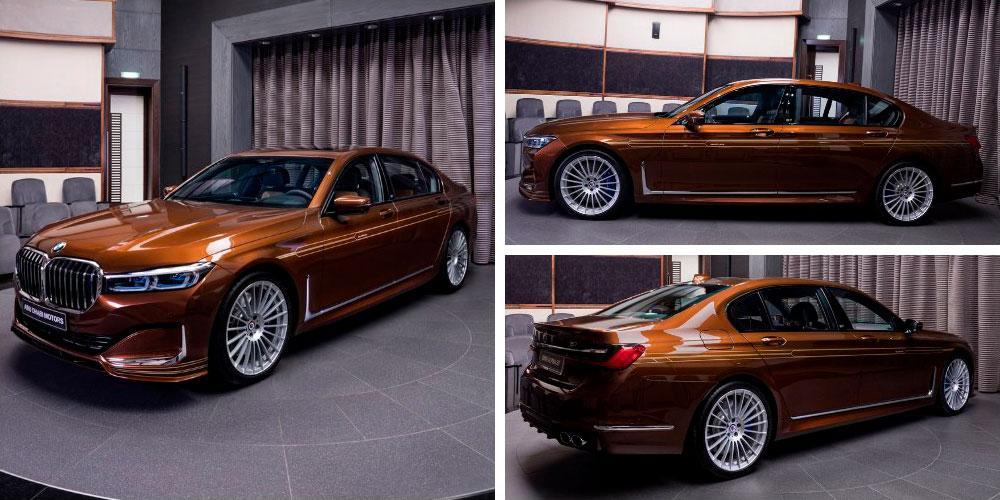 Alpina B7 Bi-Turbo 2020 года, в цвете Chestnut Bronze Metallic, Abu Dhabi Motors