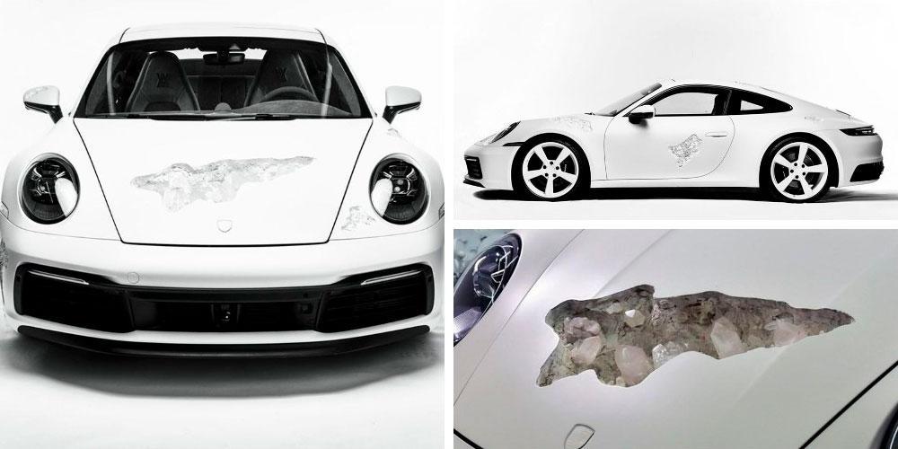 Porsche 911 Carrera 4S Crystal Eroded Art Car by Daniel Arsham 2020 года