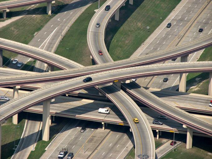 Развязка трасс М-695 и I-95